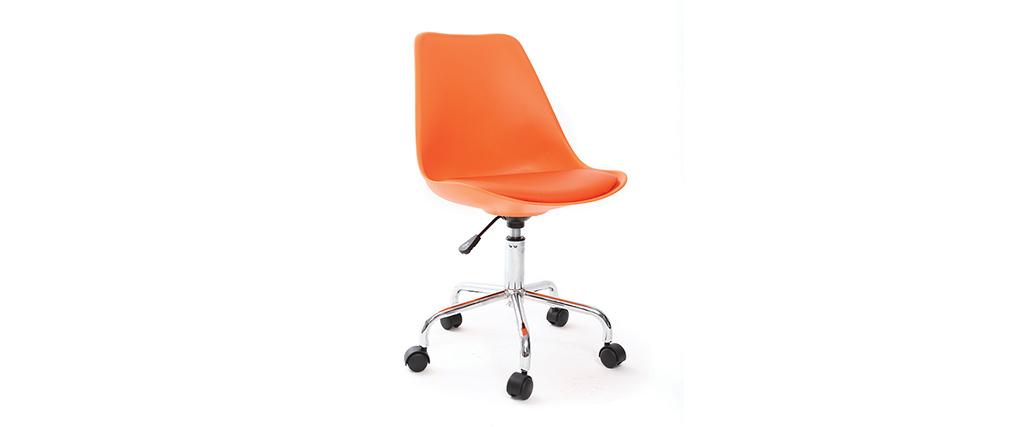 design schreibtischstuhl orange new steevy v2 miliboo. Black Bedroom Furniture Sets. Home Design Ideas