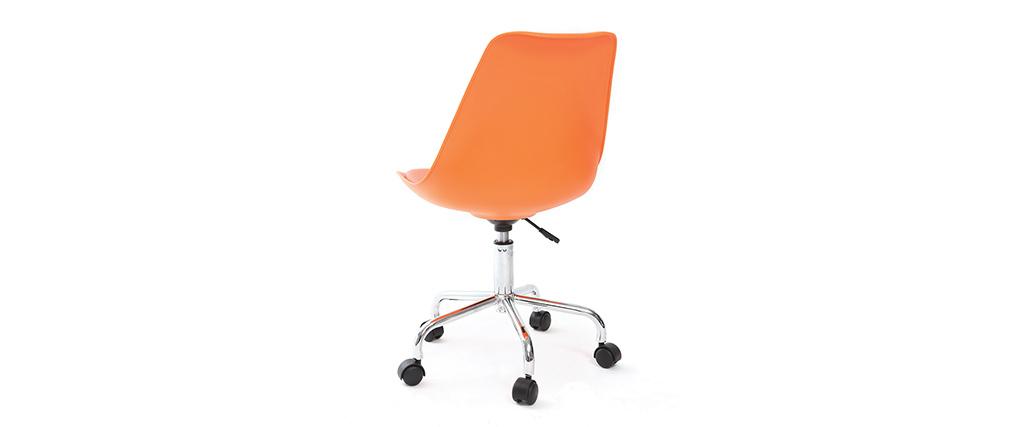 Design schreibtischstuhl  Design-Schreibtischstuhl Orange NEW STEEVY V2 - Miliboo