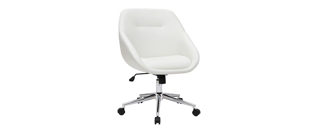 Design-Schreibtischstuhl Weiß COLIN ? Miliboo |1| Stéphane Plaza