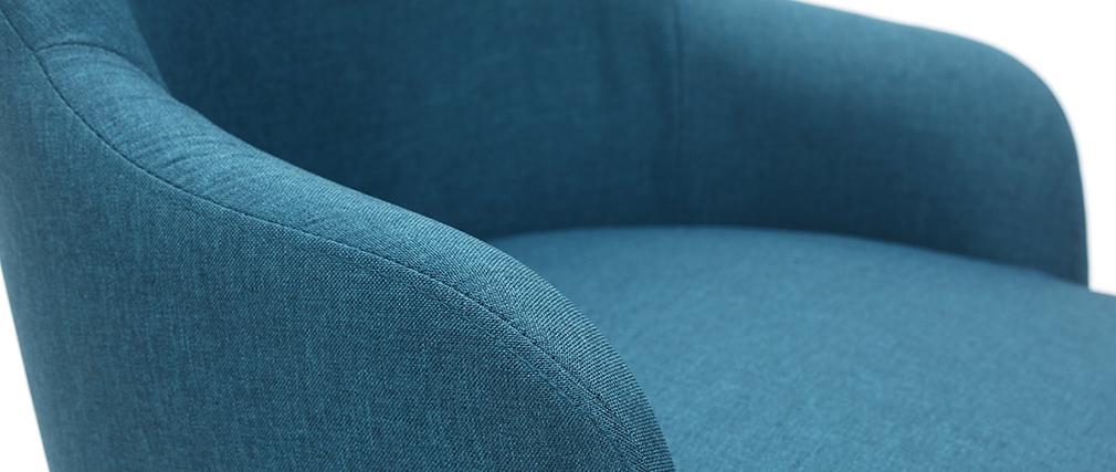 Design-Sessel blaugrüner Stoff und Metallbeine Schwarz AMON