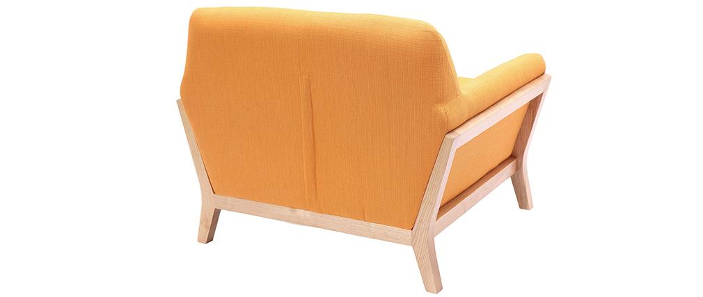 Design-Sessel Gelb Holzbeine YOKO
