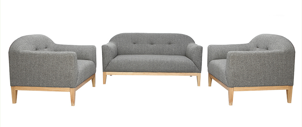 Design-Sessel Grau MARY