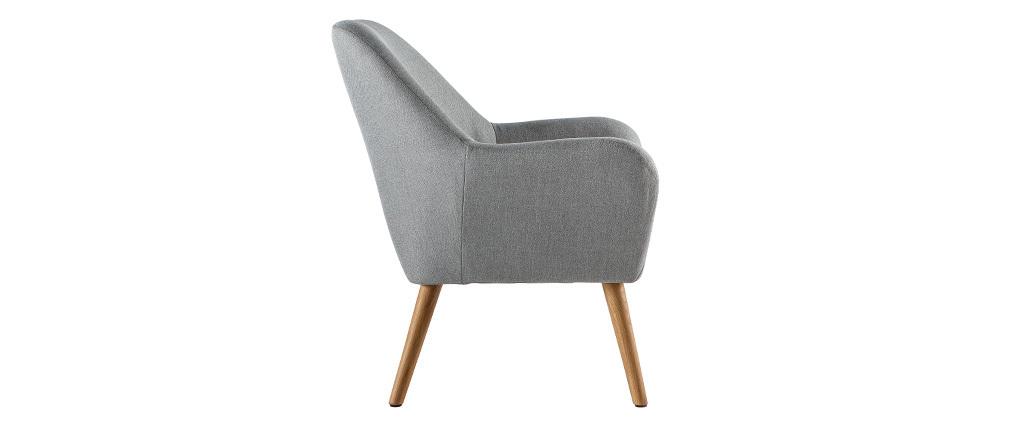 Design-Sessel helles Grau MIRA