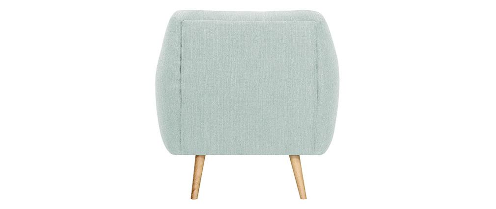 Design-Sessel helles Holz und minzgrüner Stoff OLAF