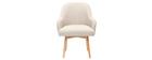 Design-Sessel naturfarben helle Holzbeine MONA