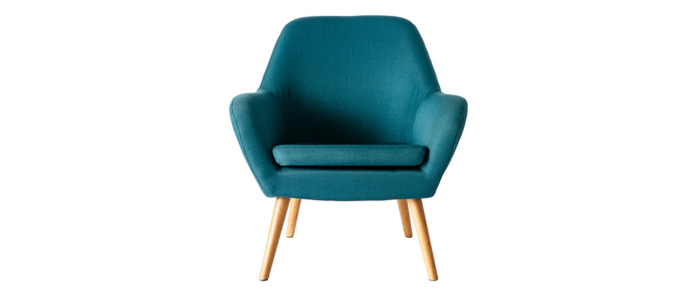 Design-Sessel Petrol-Blau MIRA
