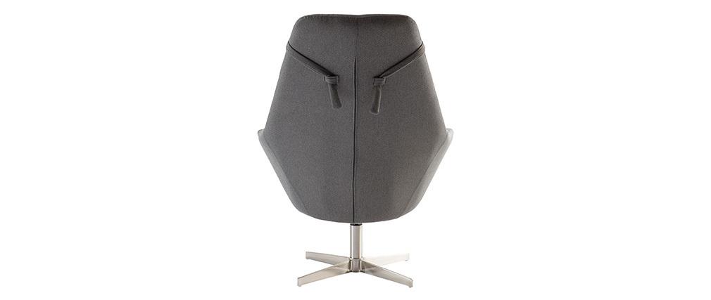 Design-Sessel Polyester Dunkelgrau Aluminium-Sternfuß AMADEO