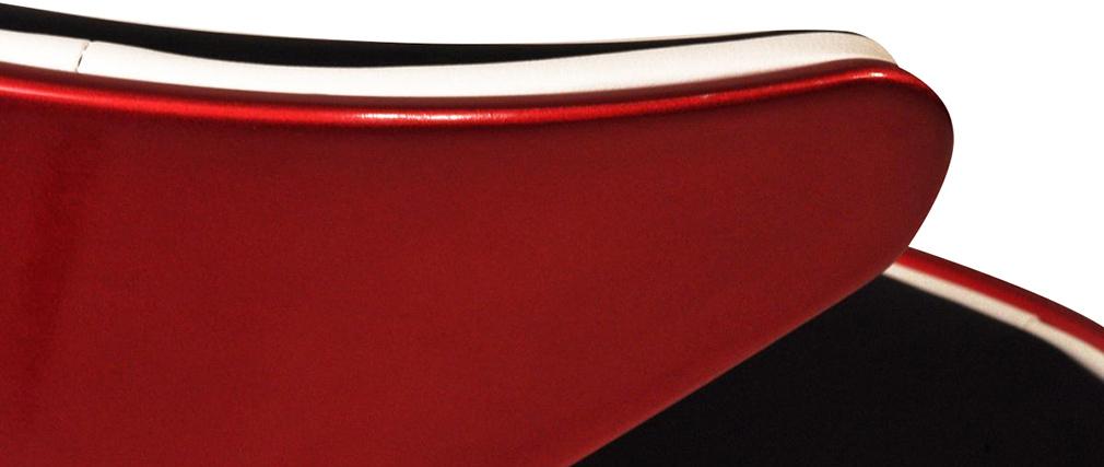 Design-Sessel Retro Rot, Schwarz und Weiß Flame