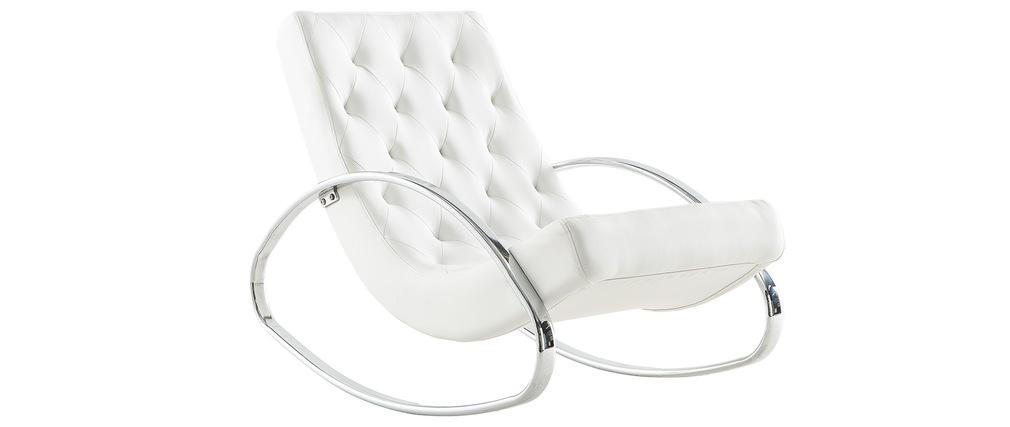 Design-Sessel Schaukelstuhl CHESTY Weiß