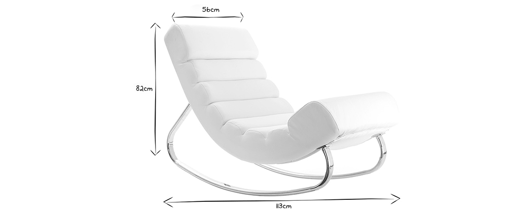 Design-Sessel Schaukelstuhl TAYLOR Weiß