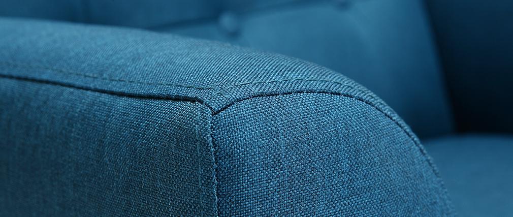 Design-Sessel skandinavisch Blaugrün und helles Holz BRIGHTON