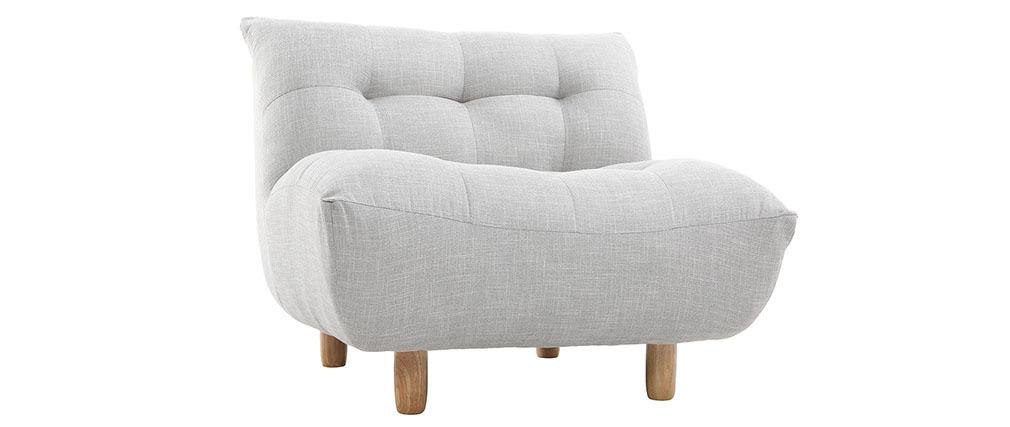 Kindersessel grau  Design-Sessel skandinavisch Grau und Eiche YUMI - Miliboo