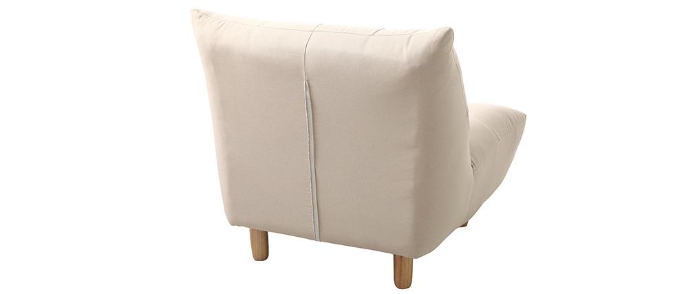 Design-Sessel skandinavisch Naturfarben und Eiche YUMI