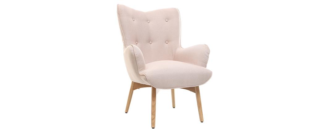 design sessel skandinavisch und fu ablage rosa und helles. Black Bedroom Furniture Sets. Home Design Ideas