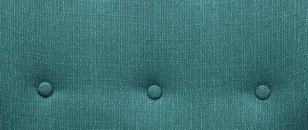 Design-Sessel Stoff Blaugrün Beine Nussbaum OLAF
