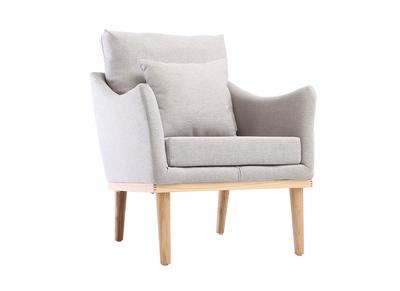 Design-Sessel Stoff Grau und Esche NORI