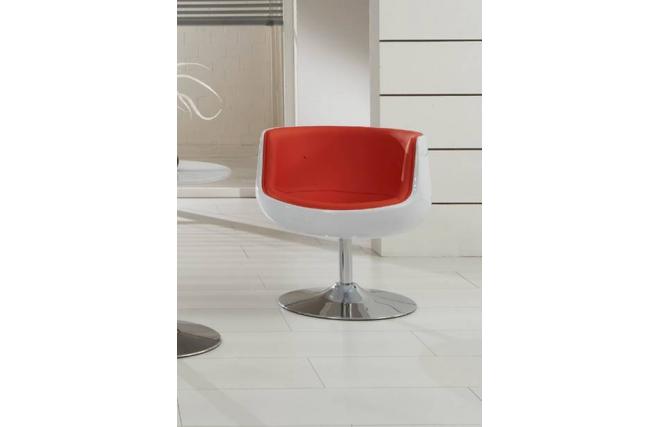 Design sessel stuhl brady schwarz und rot miliboo for Design stuhl rot