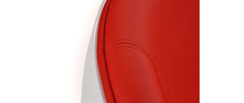 Design sessel stuhl stanley wei und rot aus abs und for Design stuhl rot