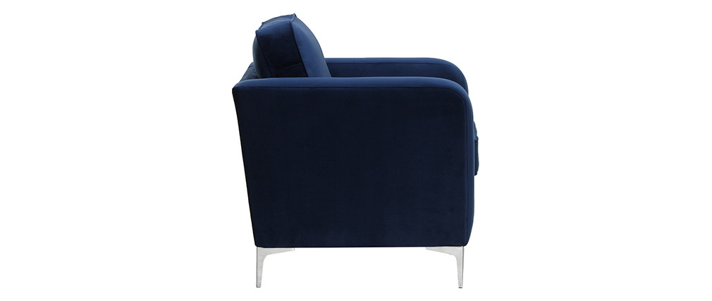 Design-Sessel Velours Dunkelblau HARRY