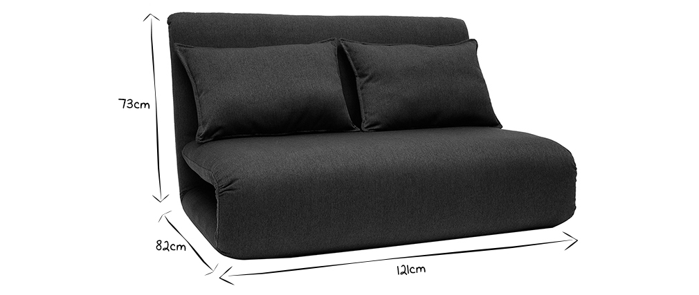 Design-Sessel Verstellbar 2 Plätze Grau Anthrazit SLEEPER