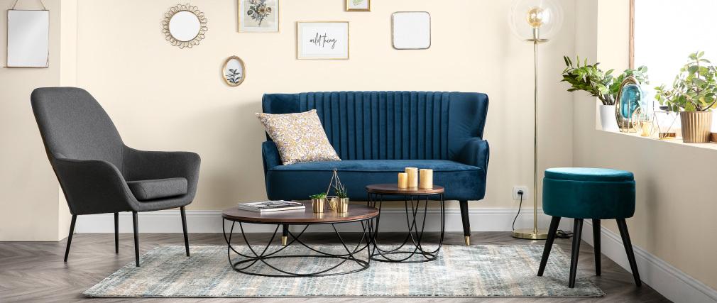Design-Sessel zeitgenössisch Grau OSWALD