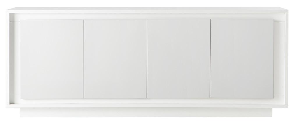 Design-Sideboard 4 Türen weiß LAND