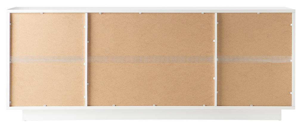 Design-Sideboard 4 Türen weiß und Zement-Dekor LAND
