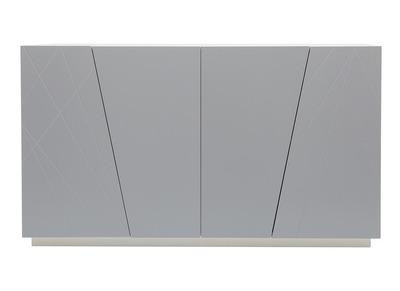 Design-Sideboard lackiert Grau matt ALESSIA