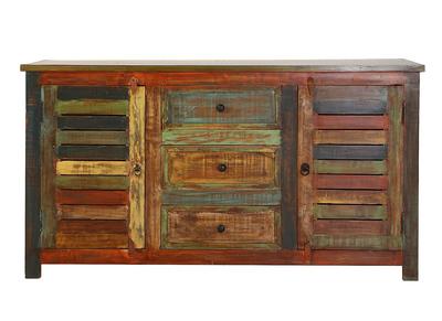 Design-Sideboard recyceltes Holz MAYOTTE
