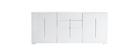 Design-Sideboard Weiß lackiert 2 Türen 3 Schubladen TED