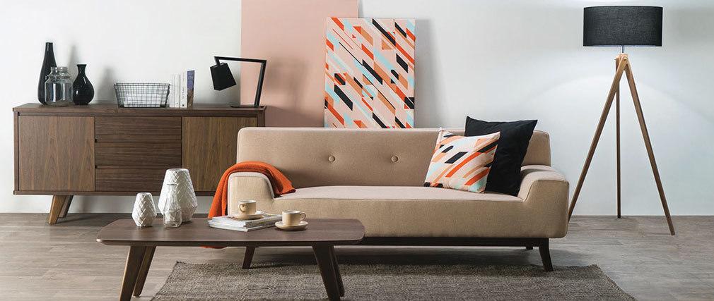 Design-Sofa 2-3 Plätze Grau VILA