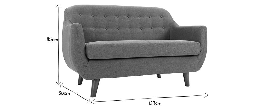Design-Sofa 2 Plätze Anthrazitgrau YNOK