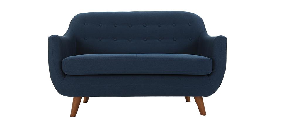 Design-Sofa 2 Plätze Blau YNOK