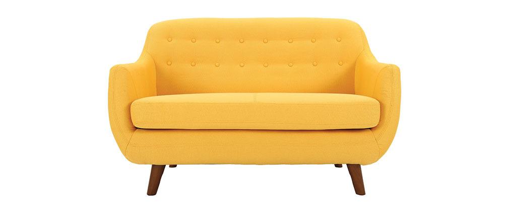 Design-Sofa 2 Plätze Gelb YNOK