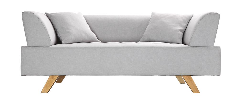 Design-Sofa 2 Plätze Grau ARTIC
