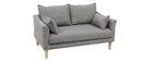 Design-Sofa 2 Plätze Grau KATE