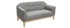 Design-Sofa 2 Plätze Grau Mary