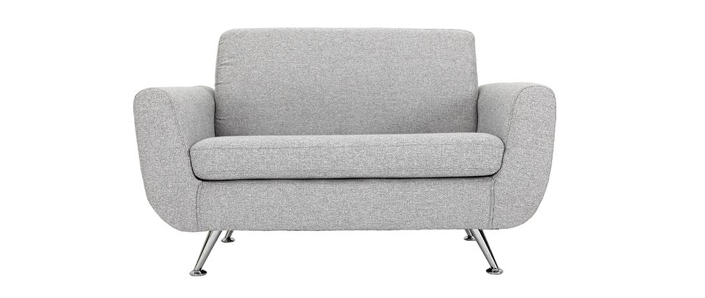 Design-Sofa 2 Plätze Grau PURE