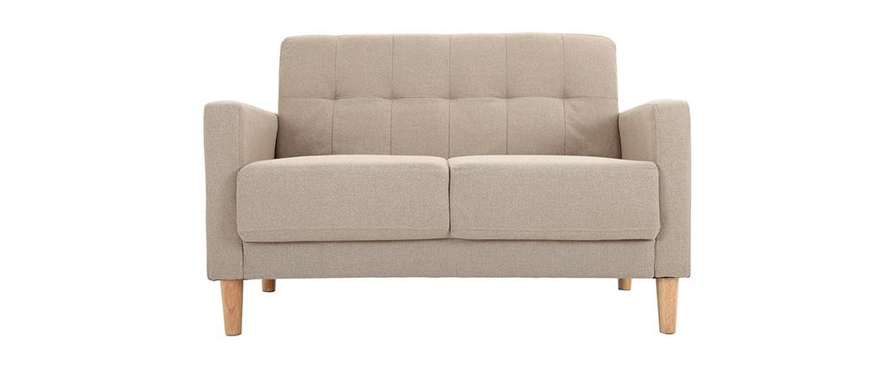 Design-Sofa 2 Plätze Naturfarben MOON