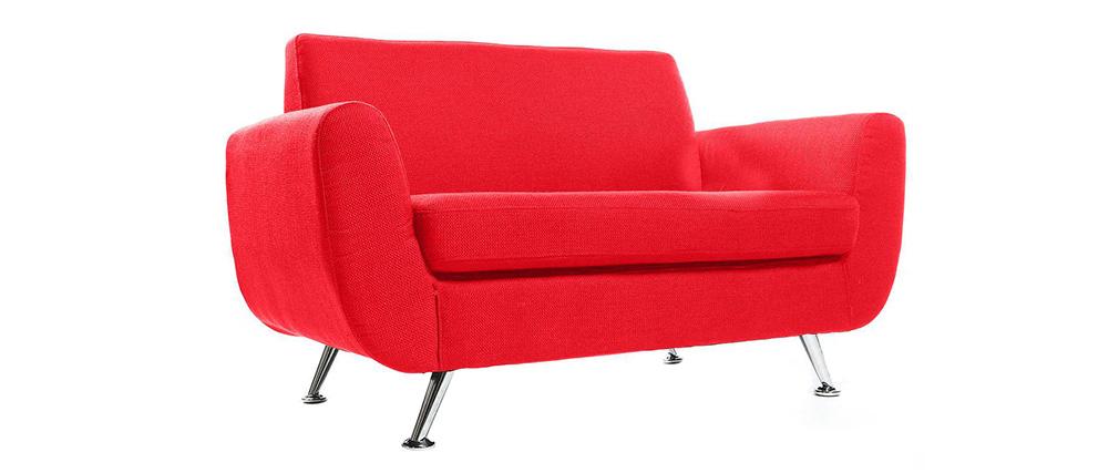 Design-Sofa 2 Plätze Rot PURE