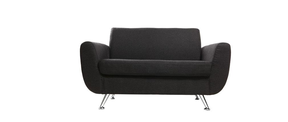 Design-Sofa 2 Plätze Schwarz PURE