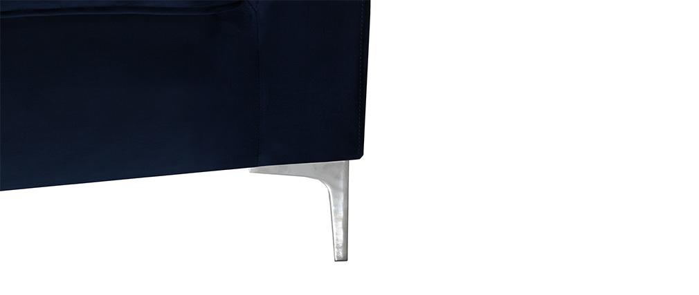 Design-Sofa 2-Sitzer Velours Dunkelblau HARRY