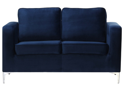 Design-Sofa 2-Sitzer Velours Dunkelblau HARRY