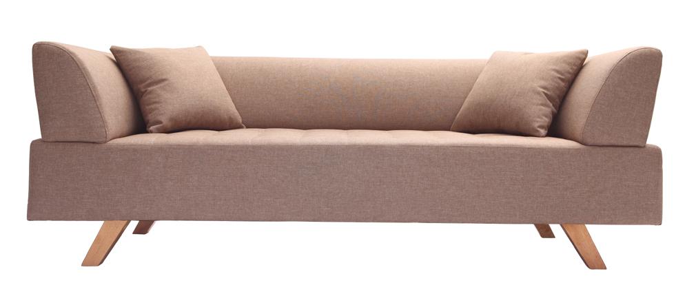 Design-Sofa 3 Plätze Beige ARTIC