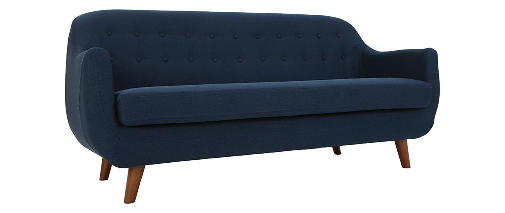 Design-Sofa 3 Plätze Blau YNOK