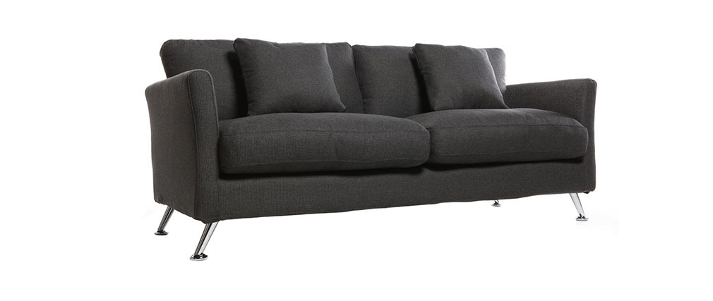 Design-Sofa 3 Plätze Design Grau VOLUPT
