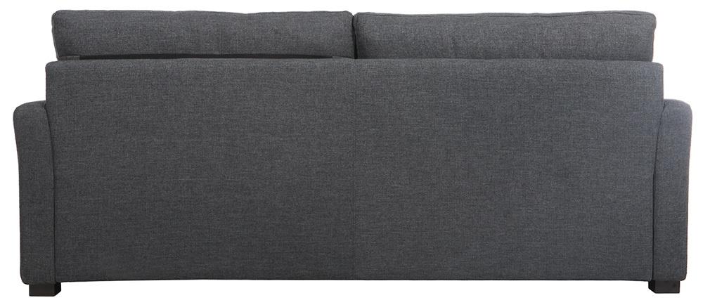 Design-Sofa 3 Plätze dunkelgrauer Stoff MILORD