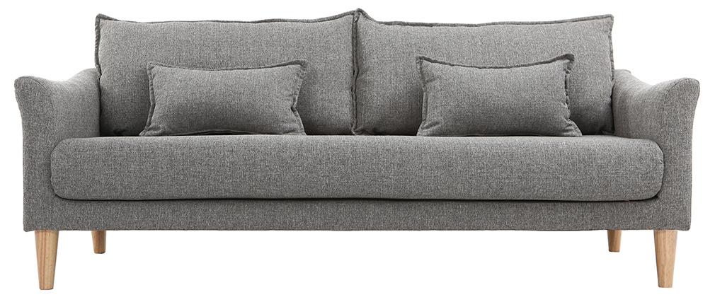 Design-Sofa 3 Plätze Grau KATE