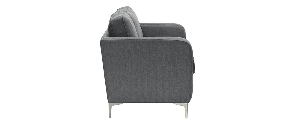 Design-Sofa 3 Plätze Hellgrau HARRY