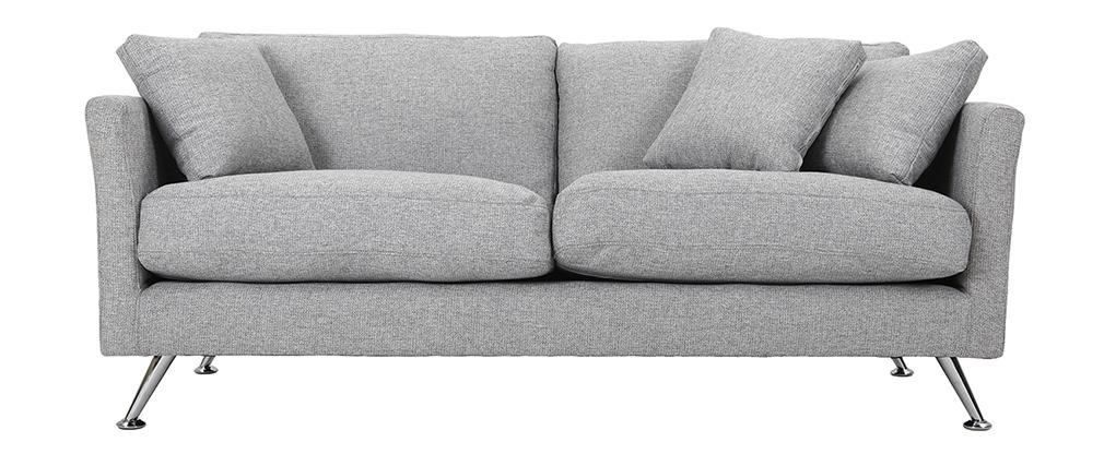 Design-Sofa 3 Plätze Hellgrau VOLUPT